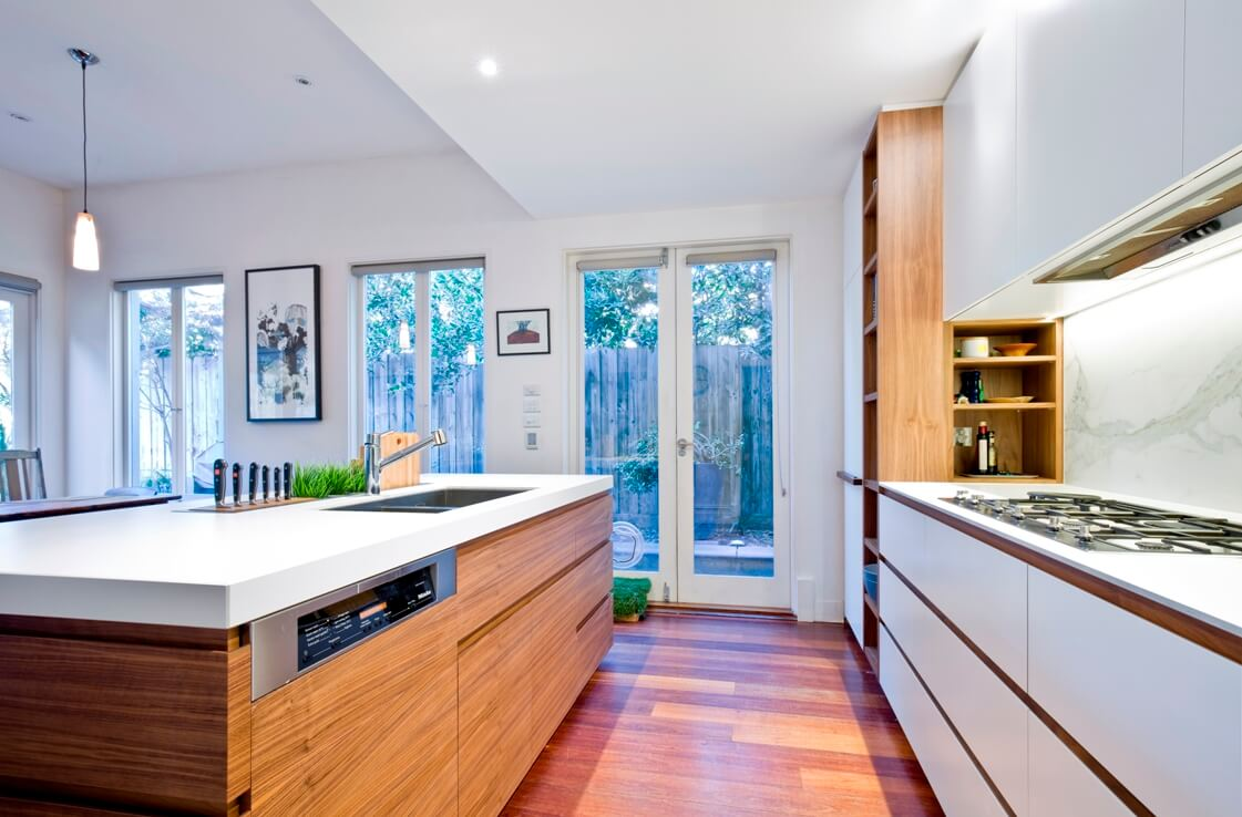 Open Plan Kitchen With Island Bench - Kitchen Ideas